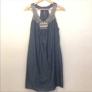 Embroidered chambray sundress